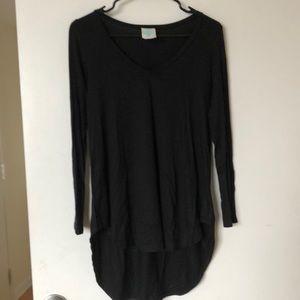 ModCloth long sleeved black draped tunic